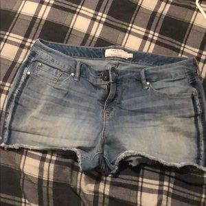 Blue Jean shorts.